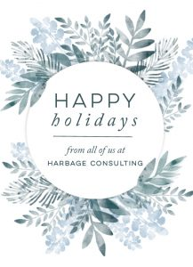 Happy Holidays from Harbage Consulting